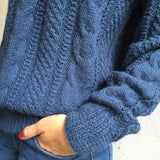 Alpaca sweater navy