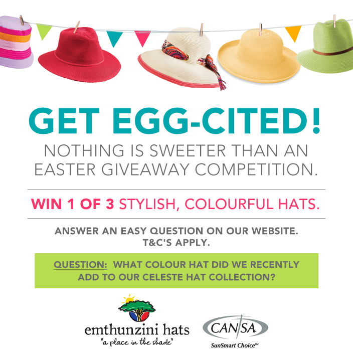 Win 1 of 3 Hats in 2017 Easter Competition