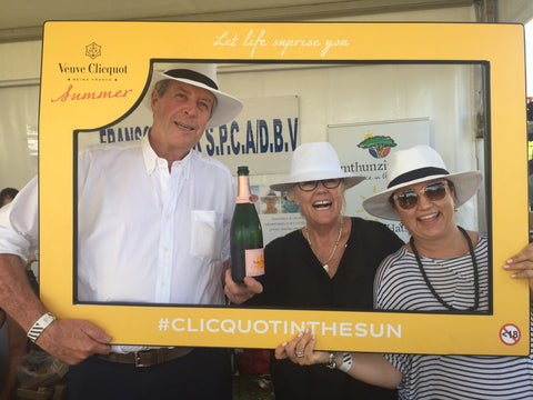 Emthunzini Sunhats Owners Gilly and Sandy Ord at Cap Classique and Champagne Festival in Franschhoek