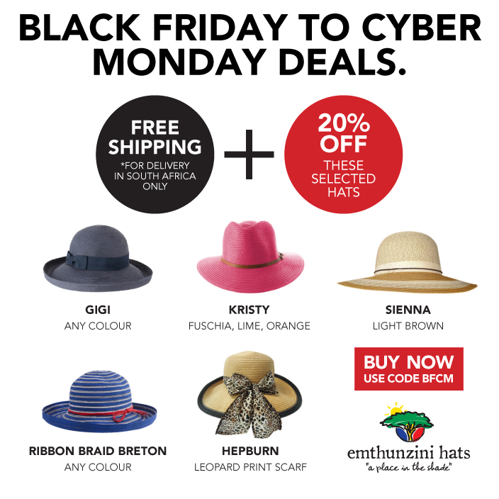 Black Friday Cyber Monday Emthunzini Hats