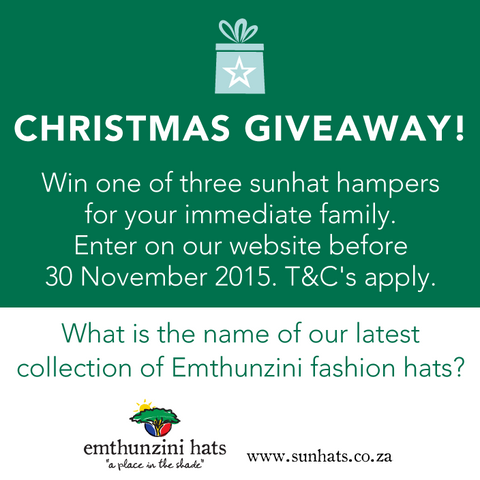 Emthunzini Hats Christmas Family Sun Hat Giveaway