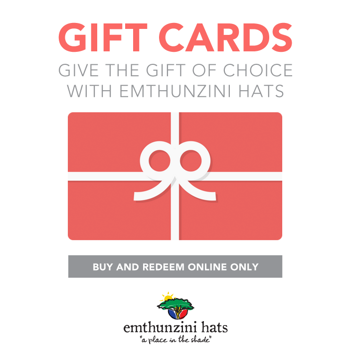 Gift Cards on Emthunzini Sunhats