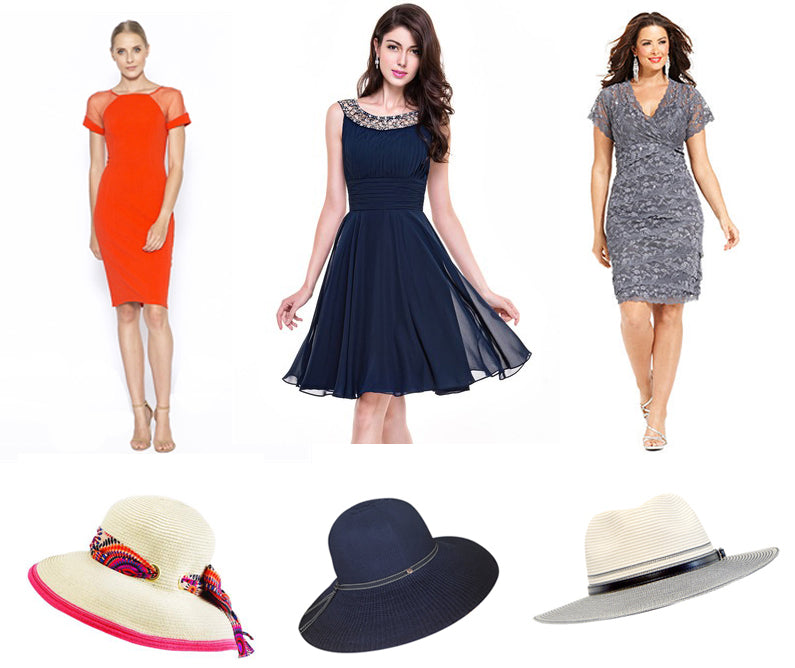 Sunhats for Evening Frock