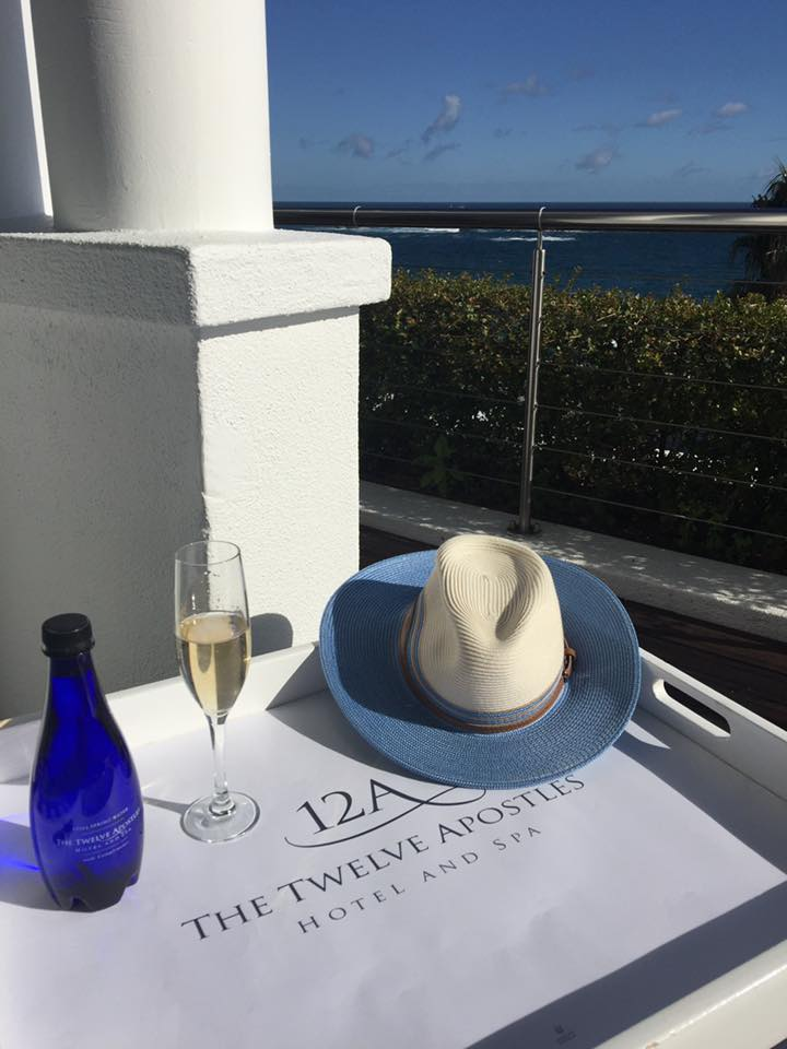 Sun hat at 12 Apostles Hotel in Cape Town