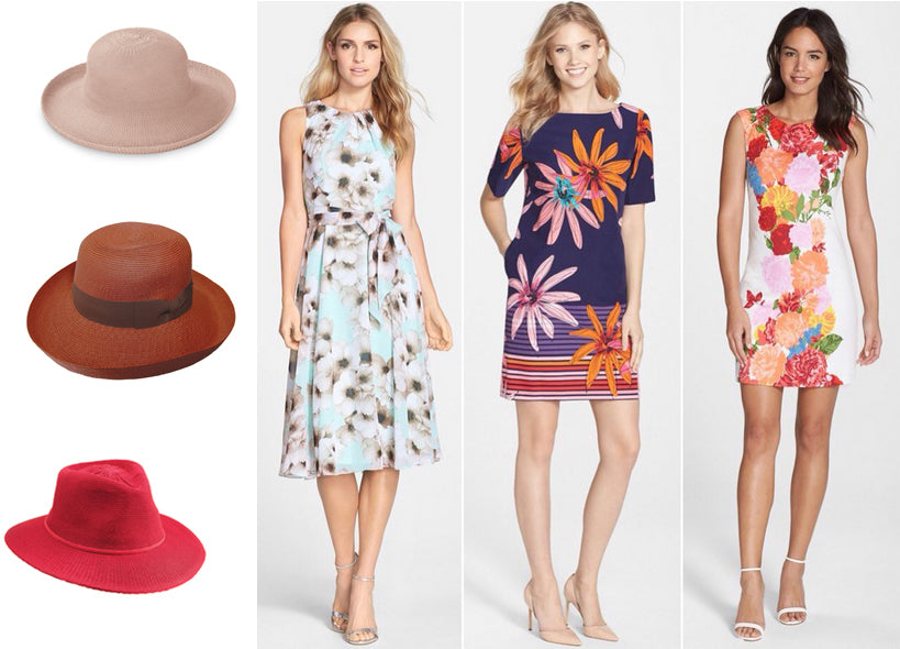 Summer Frocks with Sunhats