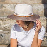 Bella Ivory/Mixed Black Emthunzini Sun Hat