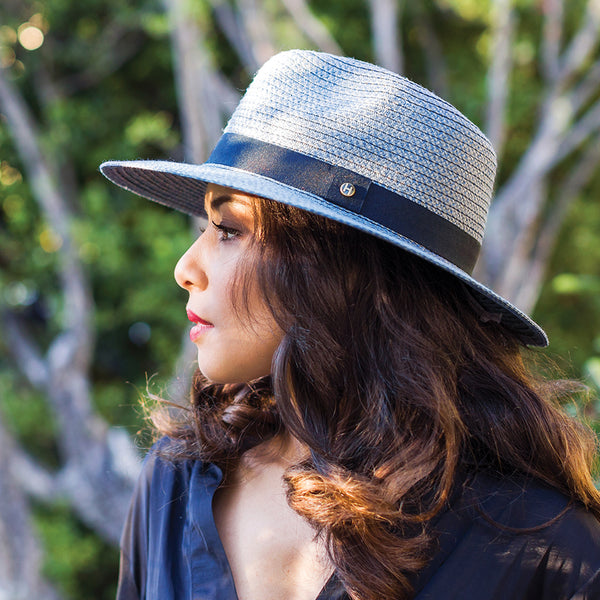 Braided Fedora UV Sun Hat for Women