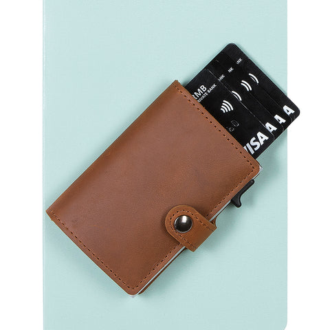 EaziCard RFID Card Holder Genuine Leather Wallet