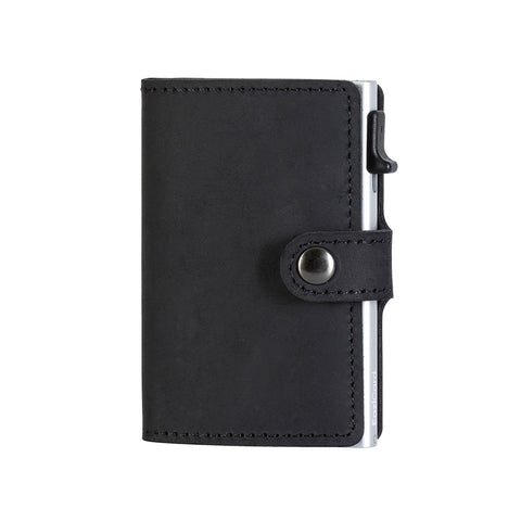 EaziCard RFID Wallet - Genuine Leather Saddle