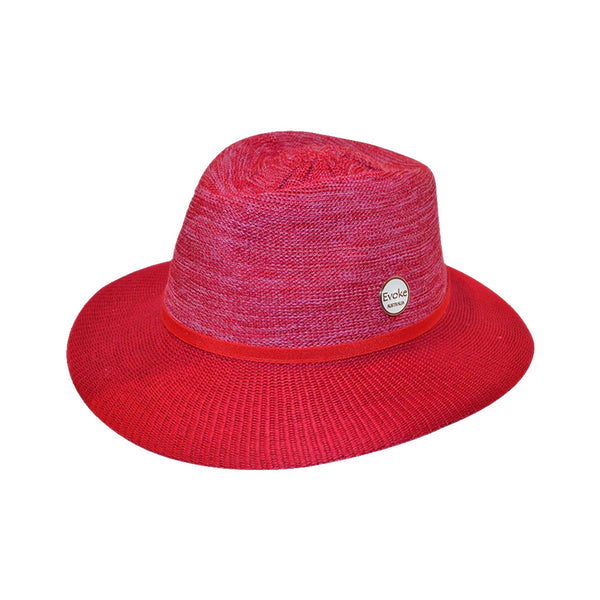 Evoke Australia Aston Fedora Mixed Red Hat