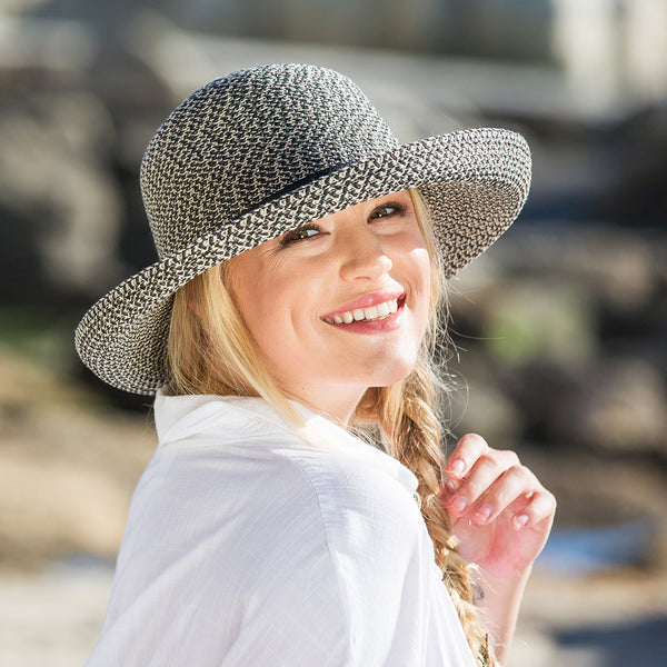 Textured Breton UV Sun Hat for Women