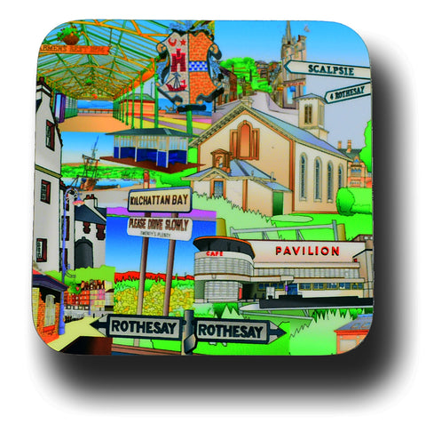 Bute Collage Coaster