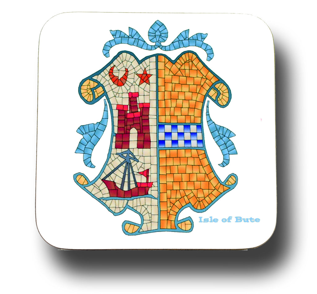 Bute Coat of Arms Coaster