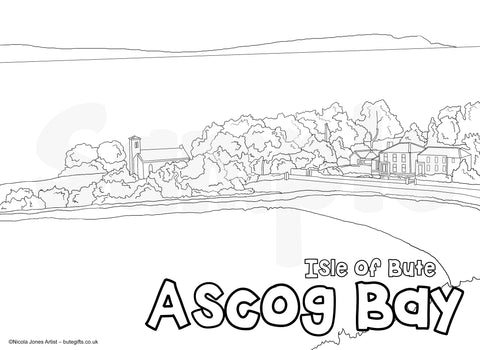 Ascog Bay Colour In Sheet (FREE DIGITAL DOWN LOAD)