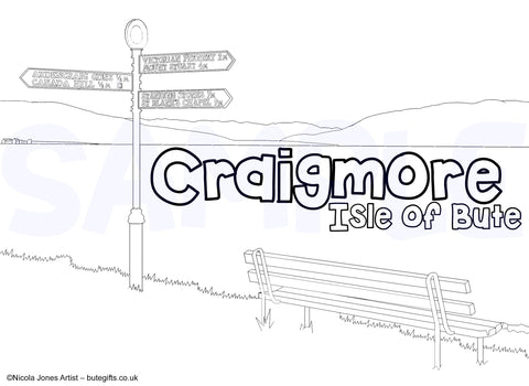 Craigmore Colour In Sheet (FREE DIGITAL DOWN LOAD)