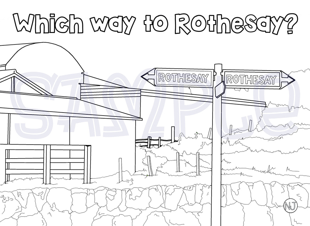 Which way to Rothesay Colour In Sheet (FREE DIGITAL DOWN LOAD)
