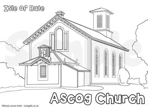 Ascog Church Colour In Sheet (FREE DIGITAL DOWN LOAD)