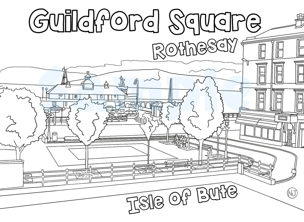 Guildford Square Colour In Sheet (FREE DIGITAL DOWN LOAD)