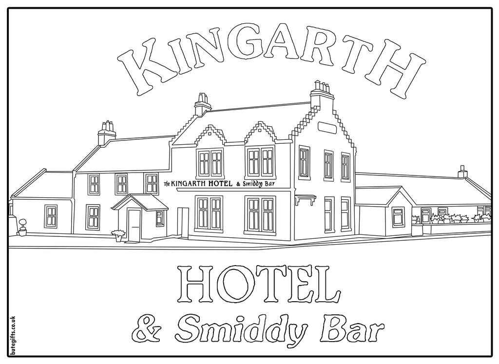 Kingarth Hotel Colour In Sheet (FREE DIGITAL DOWN LOAD)
