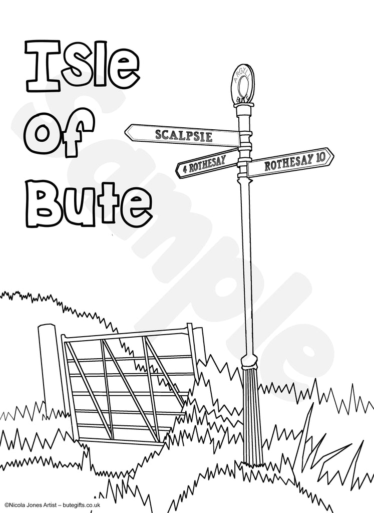 Bute Sign Colour In Sheet (FREE DIGITAL DOWN LOAD)