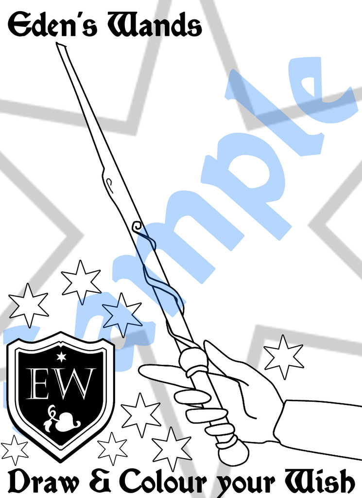 Eden's Wands - Colour Sheet # - 2 (FREE Digital Download)