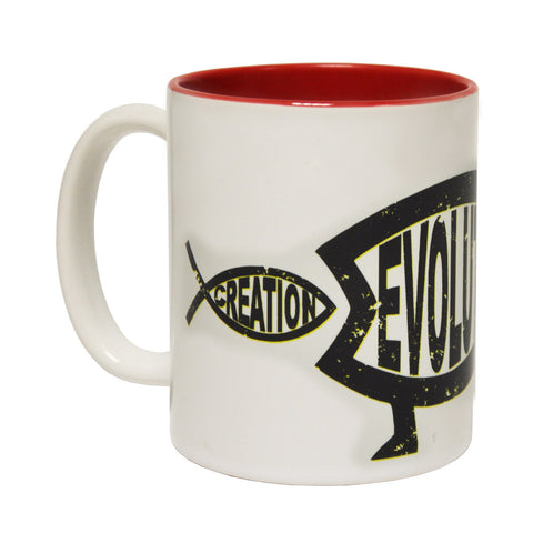 123t Australia Creation Vs Evolution Design Funny Mug