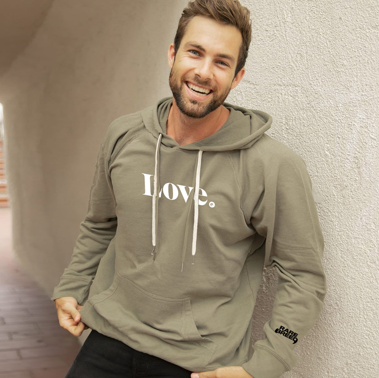 Love Unisex Hooded Pullover - Olive