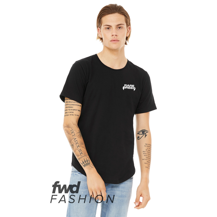 Rare Breed LC Logo Curved Hem Tee - Black