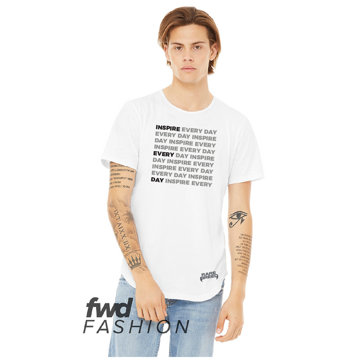 Inspire Everyday Curved Hem Tee - White