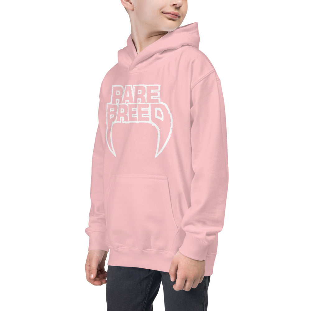 Kids Hoodie Pink Out Rare Breed