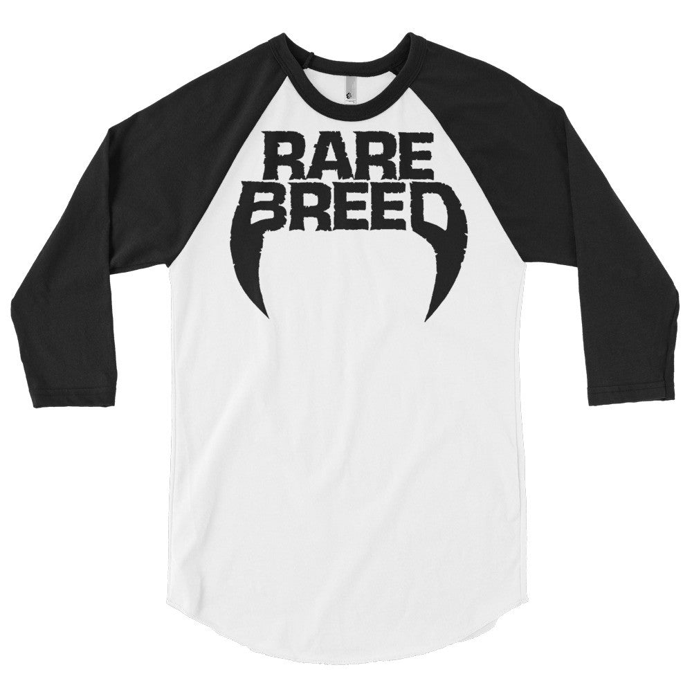 """Heavy Hitter"" Men's Raglan Shirt - BLACK/WHITE"