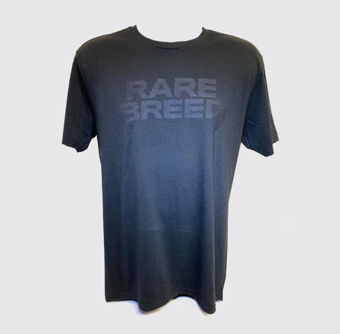RARE BREED Tri-Blend Crew Tee Black on Black