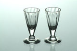 Clear Vodka Glasses With Riffles