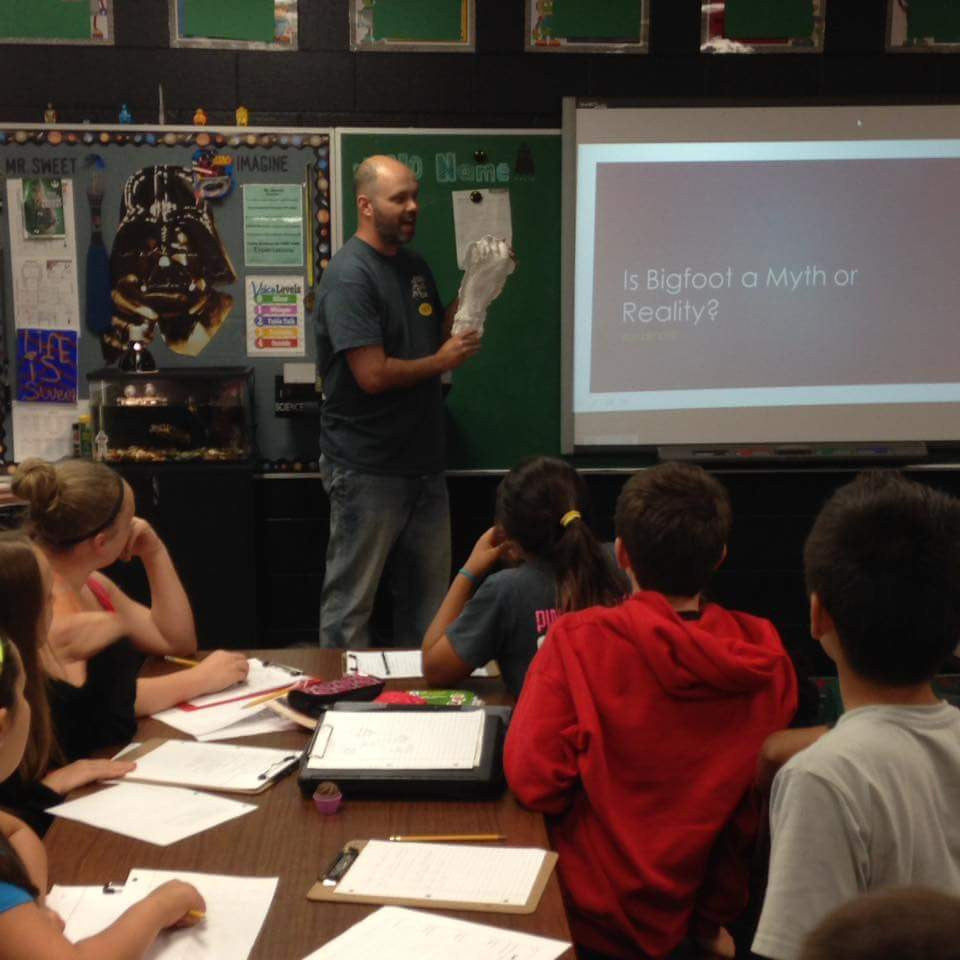 Squatch Watch Gear Partner Gives Presentation to Local Fifth Grade Students