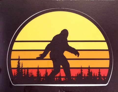 Setting Sun Squatch Sticker
