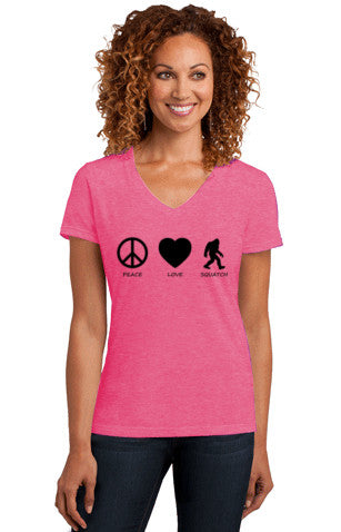 Peace Love Squatch Women's Tee