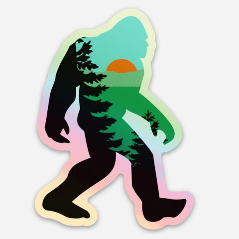 Mountain Squatch Sticker - Holographic