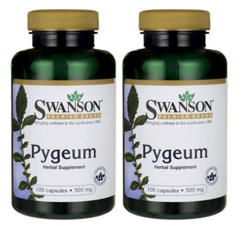 2 PACK Pygeum 500 mg by Swanson Premium  / (2 Bottles x 100)