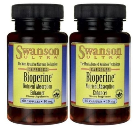 2 PACK BioPerine® Black Pepper Extract Nutrient Absorption Enhancer Piperine