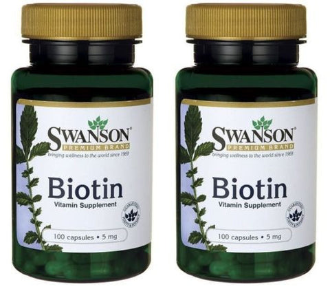 2 PACK BIOTIN Hair Skin Nails Beauty Vitamin! Growth REGROWTH pIll 5,000 mcg