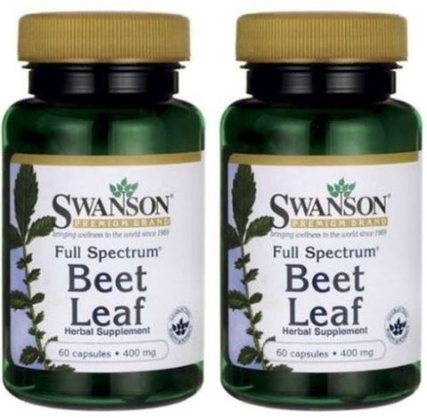2 PACK Beet Leaf Capsules Full Spectrum Lots Benefits Carotenoids Antioxidants