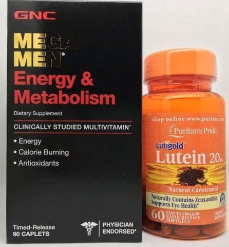 #1 GNC Mega Men Energy & Metabolism +PLUS+ Lutein Lutigold by Puritan's Pride