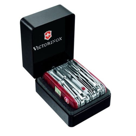 Victorinox Swiss Army Knife, Swisschamp XAVT Ruby Red Knife # 53509, New In Box