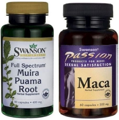 SWANSON Muira Puama Root & Maca Sexual Health, Male & Female Sex