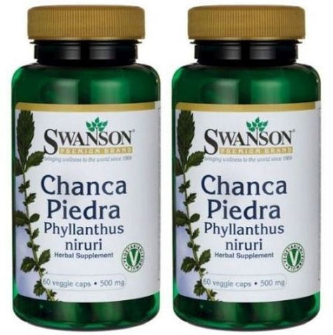 2 PACK CHANCA PIEDRA by Swanson Premium Natural High Potency QUEBRA PEDRA