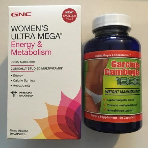 90 GNC Women's Ultra Mega Energy & Metabolism Multivite +PLUS+ Garcinia Cambogia