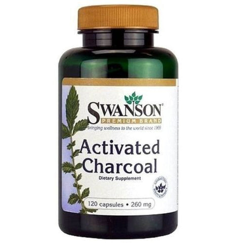 Activated Charcoal 260 mg SWANSON 120 Capsules - Digestive Health & MORE, 2019