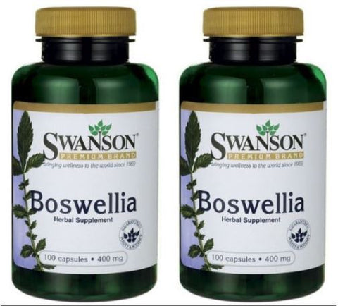 2 PACK Swanson Boswellia (serrata) 400 mg 100 (X2) Caps JOINT HEALTH & MORE