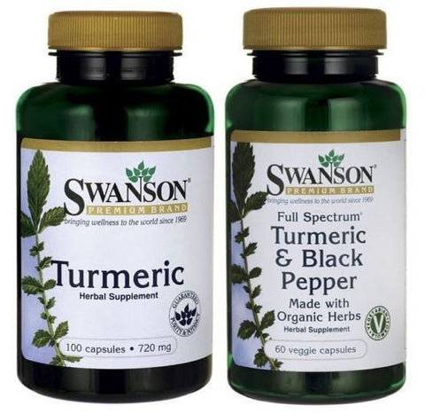 TURMERIC COMBO! Turmeric & Turmeric and Black Pepper Piperine (Tumeric)