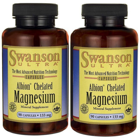2 X ALBION CHELATED MAGNESIUM GLYCINATE CHELATE DEPRESSION RELIEF 180 Capsules